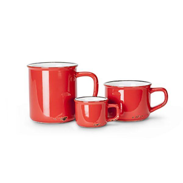 Red Stoneware Mug