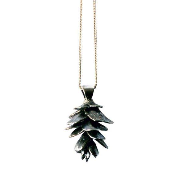 Tiny Pinecone Necklace
